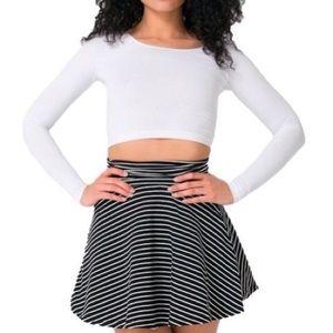 American apparel striped convertible skirt dress